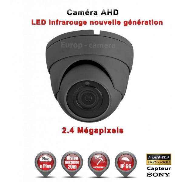 """Dôme AHD Anti-vandal FULL HD 1080P Capteur 1/2.7"""" SONY IMX322 IR 20m étanche réf: EC-AHDC20FHD"""