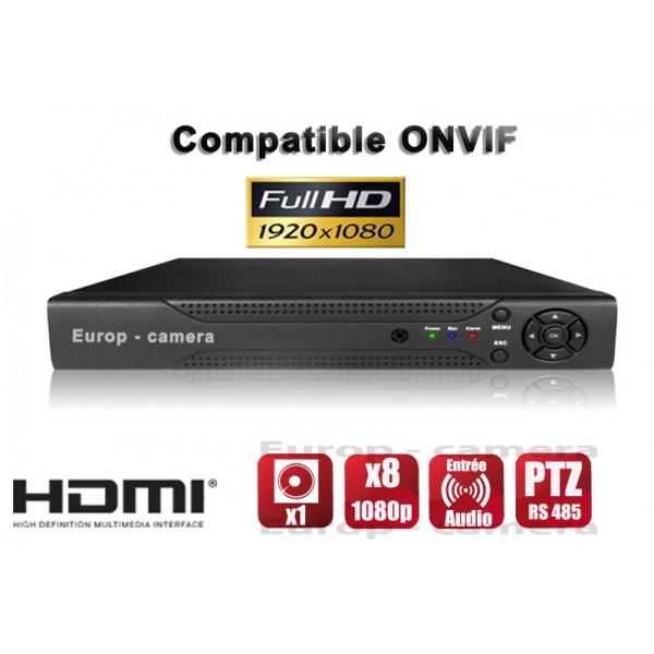 enregistreur numérique NVR 8 canaux 1080P