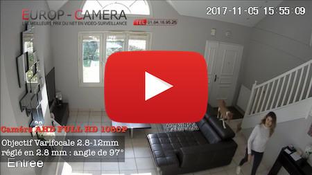 Vidéo démonstration caméra AHD FULL HD 1080P varifocale