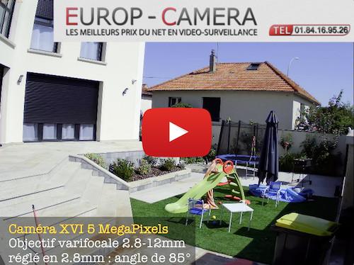 Vidéo de demonstration XVI 5 MegaPixels varifocale
