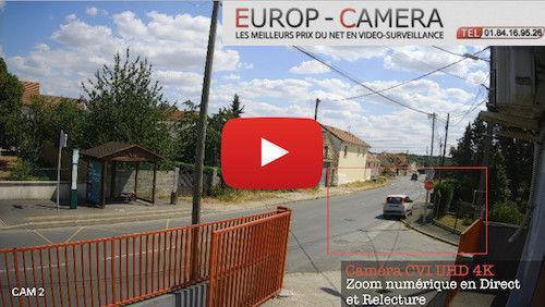 Vidéo démonstration caméra CVI UHD 4K