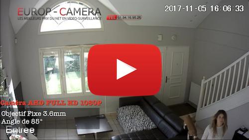 Vidéo démonstration caméra AHD FULL HD 1080P