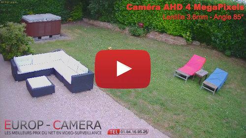 Vidéo démonstration caméra AHD FULL HD 4 MegaPixels