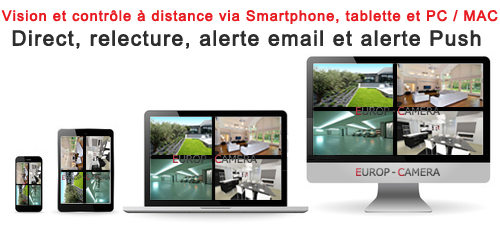 Vision à distance IPHONE ANDROID PC MAC