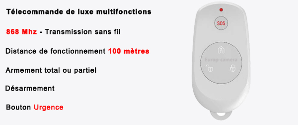 Télécommande porte-clés 4 boutons alarme PRO MFprotect