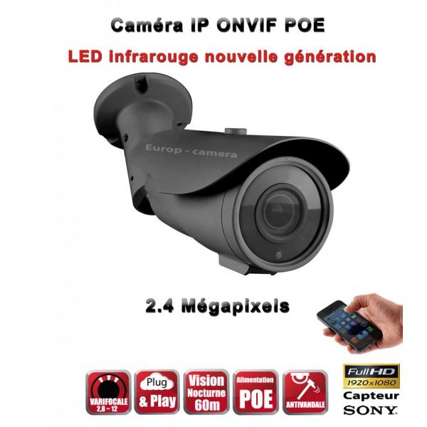 TUBES Anti-Vandal IP ONVIF 1080P CMOS 2 Mega-Pixels IP66