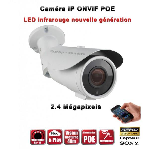 TUBES Anti-Vandal IP ONVIF 1080P SONY CMOS 2 Mega-Pixels IP66